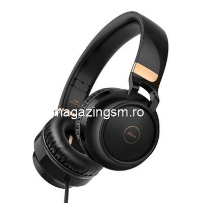 Casti Cu Microfon iPad Pro PICUN C60 4D Negre