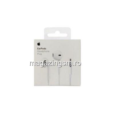 Casti Handsfree Apple iPhone 5 5s 6 6 Plus 6s 6s Plus Cu Microfon Si Telecomanda Originale In Blister