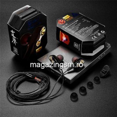 Casti Handsfree HTC One M7 Cu Microfon Stereo Negre