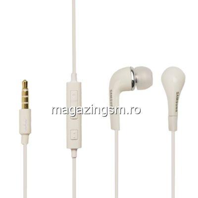 Casti Handsfree Samsung EHS64AVFWE Stereo Albe Originale