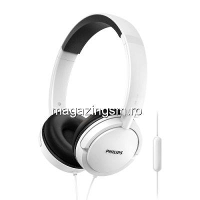 Casti On-Ear Philips SHL5005WT/00, jack 3,5mm, Alb