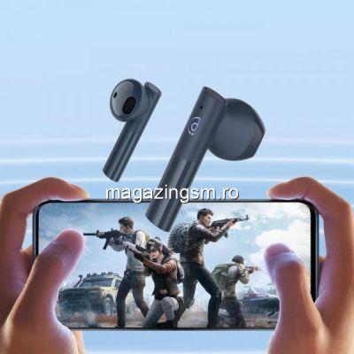 Casti Wireless Haylou MoriPods, TWS Bluetooth V5.2 Earphone, Albastru
