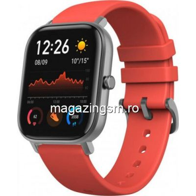 Ceas smartwatch Amazfit GTS Vermilion Orange