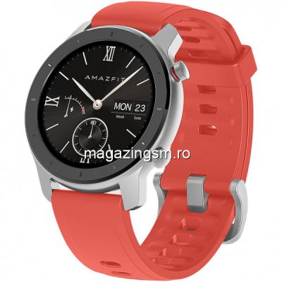Ceas smartwatch  Amazfit GTR 42mm Coral Red