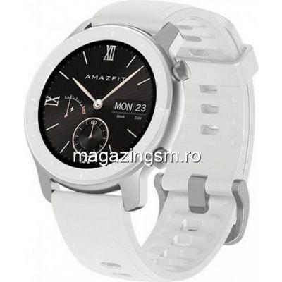 Ceas smartwatch Amazfit GTR 42mm Moonlight White