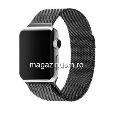 Curea ceas Milanese Loop pentru Apple Watch 42mm neagra