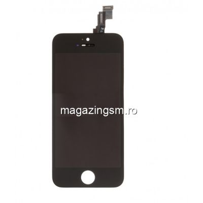 Display iPhone 5s Cu Touchscreen Si Geam Negru