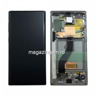 Display Cu Touchscreen si Rama Samsung Galaxy Note 10 N970 Argintiu (Aura Glow) Original