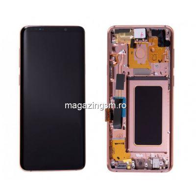 Display Cu Touchscreen Cu Rama Samsung Galaxy S9+ Plus G965 Auriu Gold Original