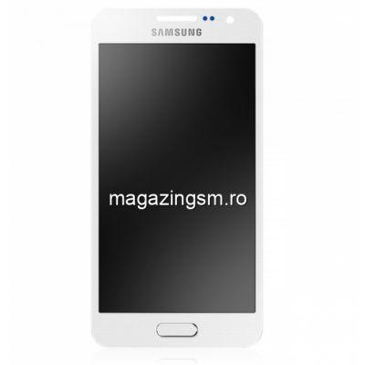 Display Cu Touchscreen Samsung Galaxy A3 SM-A300F Original Alb