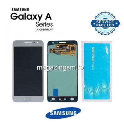 Display Cu Touchscreen Samsung Galaxy A3 SM-A300F Original Argintiu