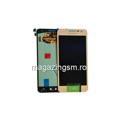 Display Cu Touchscreen Samsung Galaxy A3 SM-A300F Original Auriu