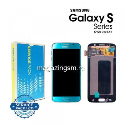 Display Cu Touchscreen Samsung Galaxy S6 G920 Original Albastru