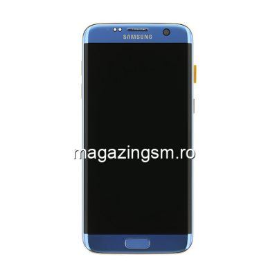 Display Cu Touchscreen Samsung Galaxy S7 Edge G935 Original Albastru