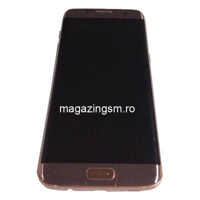 Display Cu Touchscreen Samsung Galaxy S7 edge G935 Original Albastru Cu Rama Roz SWAP
