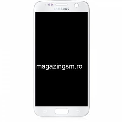 Display Cu Touchscreen Samsung Galaxy S7 G930F Original Alb