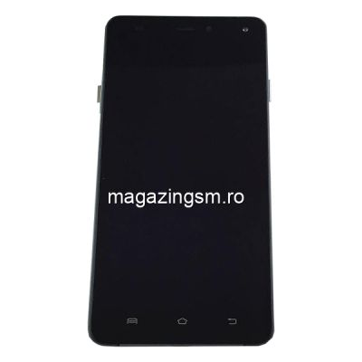 Display Cu Touchscreen Si Rama Allview E4 / E4 Lite Original Negru