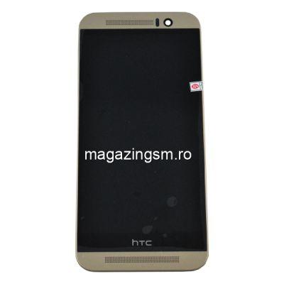 Display Cu Touchscreen Si Rama HTC One M9 Original SWAP Auriu
