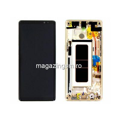 Display Cu Touchscreen Si Rama Samsung Galaxy Note 8 N950 Original Auriu