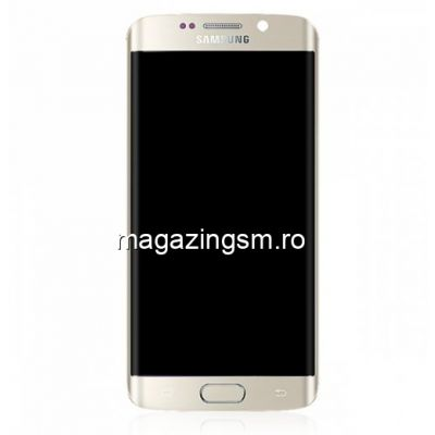 Display Cu Touchscreen Si Rama Samsung Galaxy S6 Edge G925 Original Auriu