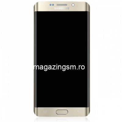 Display cu Touchscreen Si Rama Samsung Galaxy S6 edge+ G928 Original SWAP Auriu
