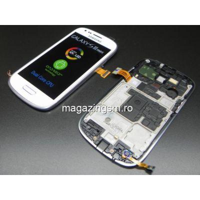 Display Cu TouchScreen Si Rama Samsung I8190 Galaxy S3 mini Alb