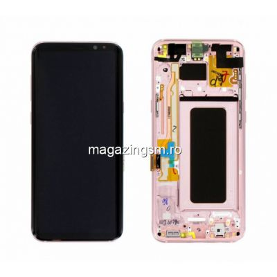Display Cu Touchscreen si Rama Samsung S8+ G955 Roz Pink Original Complet