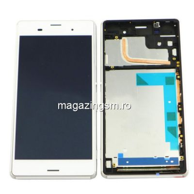 Display Cu Touchscreen Si Rama Sony Xperia Z3 D6603 D6643 D6653 D6616 Original SWAP Alb