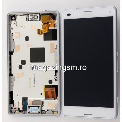 Display Cu Touchscreen Sony Xperia Z3 Compact D5803 D5833 M55w Cu Rama Original SWAP Alb