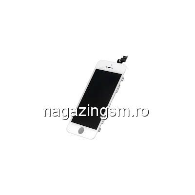 Display iPhone 5 cu TouchScreen si Geam Alb- Promotie