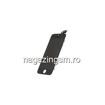 Display iPhone 5 cu TouchScreen si Geam High Copy Negru- Promotie
