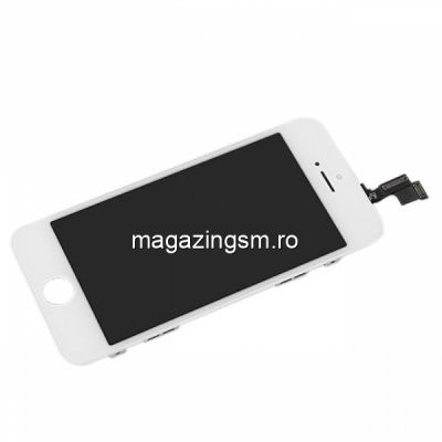 Display iPhone 5s Cu Touchscreen Si Geam Alb