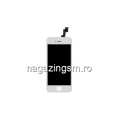 Display iPhone 5s cu TouchScreen si Geam Alb- Promotie