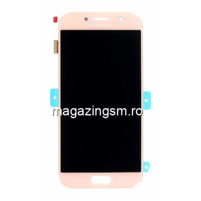 Display Samsung Galaxy A5 A520 2017 Cu Touchscreen Original Roz Auriu