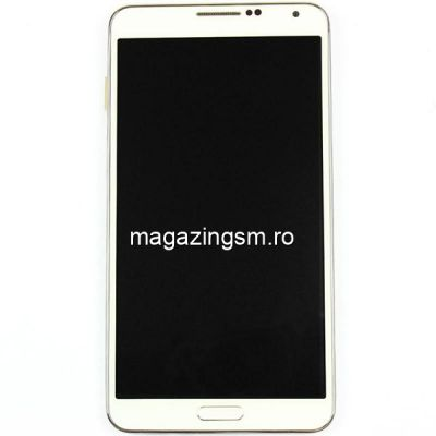 Display Samsung Galaxy Note 3 N9005 Cu Touchscreen Si Rama Original Alb