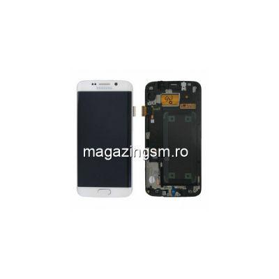 Display Samsung Galaxy S6 Edge G925 Cu Touchscreen Si Rama Original Alb