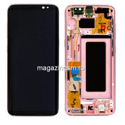 Display Cu Touchscreen si Rama Roz Pink Samsung S8 G950 Original Complet