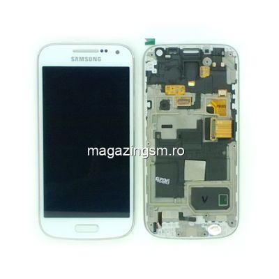 Display Samsung i9195 Galaxy S4 mini Cu Rama Original Alb