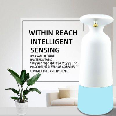 Dozator Pentru Sapun Lichid Sau Gel Dezinfectant Cu Senzor Alb