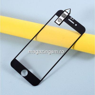 Folie de protectie Tempered Glass cu acoperire completa pentru iPhone 7 / 8 / SE 2020 Neagra