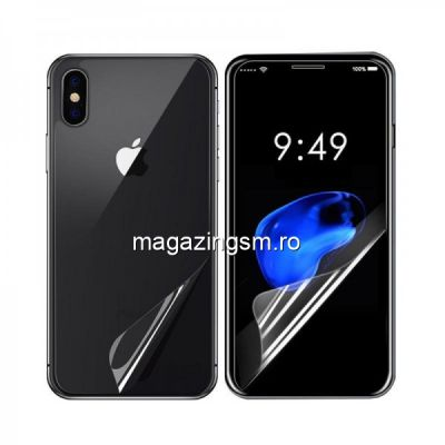 Folie Protectie 2 in 1 Display Si Capac Baterie iPhone X