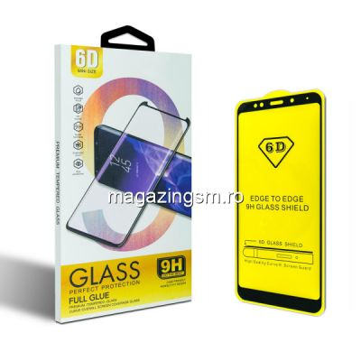 Folie protectie Sticla 6D, Full Glue, OPPO RENO 3, Negru