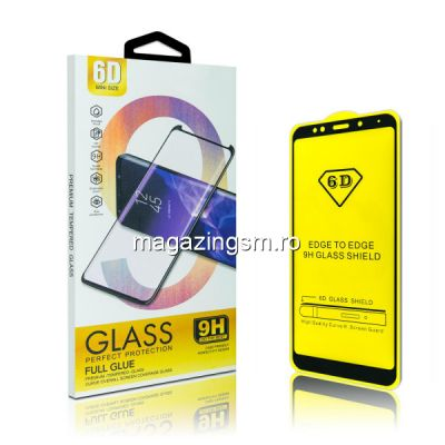Folie protectie Sticla 6D, Full Glue Samsung Galaxy A7 2018/ J4 Plus, Black