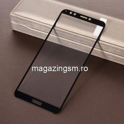Folie Sticla Huawei Honor 7C / Y7 Prime 2018 Protectie Display Acoperire Completa Neagra