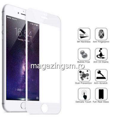 Folie Sticla iPhone 7 8 Acoperire Completa Alba