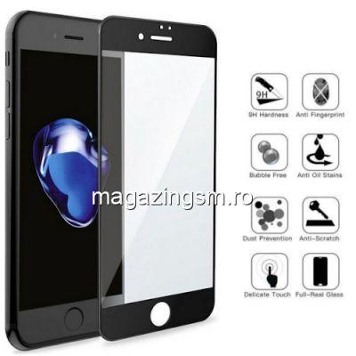 Folie Sticla iPhone 7 8 Acoperire Completa Neagra