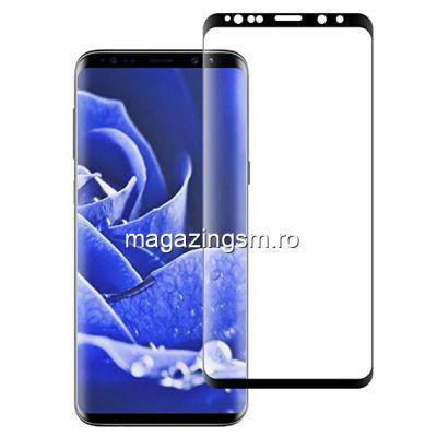 Folie Sticla Protectie Display Samsung Galaxy S9 Plus Acoperire Completa Neagra