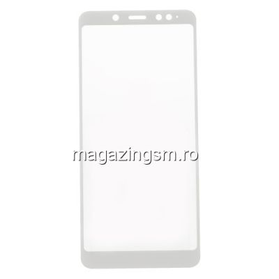 Folie Sticla Xiaomi Redmi Note 5 Protectie Display Acoperire Completa Alb