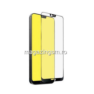 Geam Folie Sticla Protectie Display Huawei P20 Acoperire Completa Negru 4D