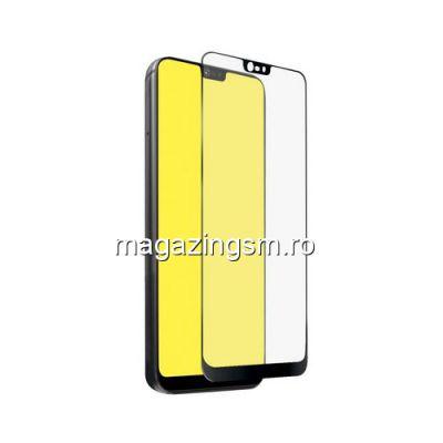Geam Folie Sticla Protectie Display Huawei P20 Lite Acoperire Completa Negru 4D